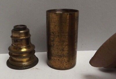 Microscope [ Objective ] 1 Inch { Including Canister } Lacquered Brass [ C1850 ]