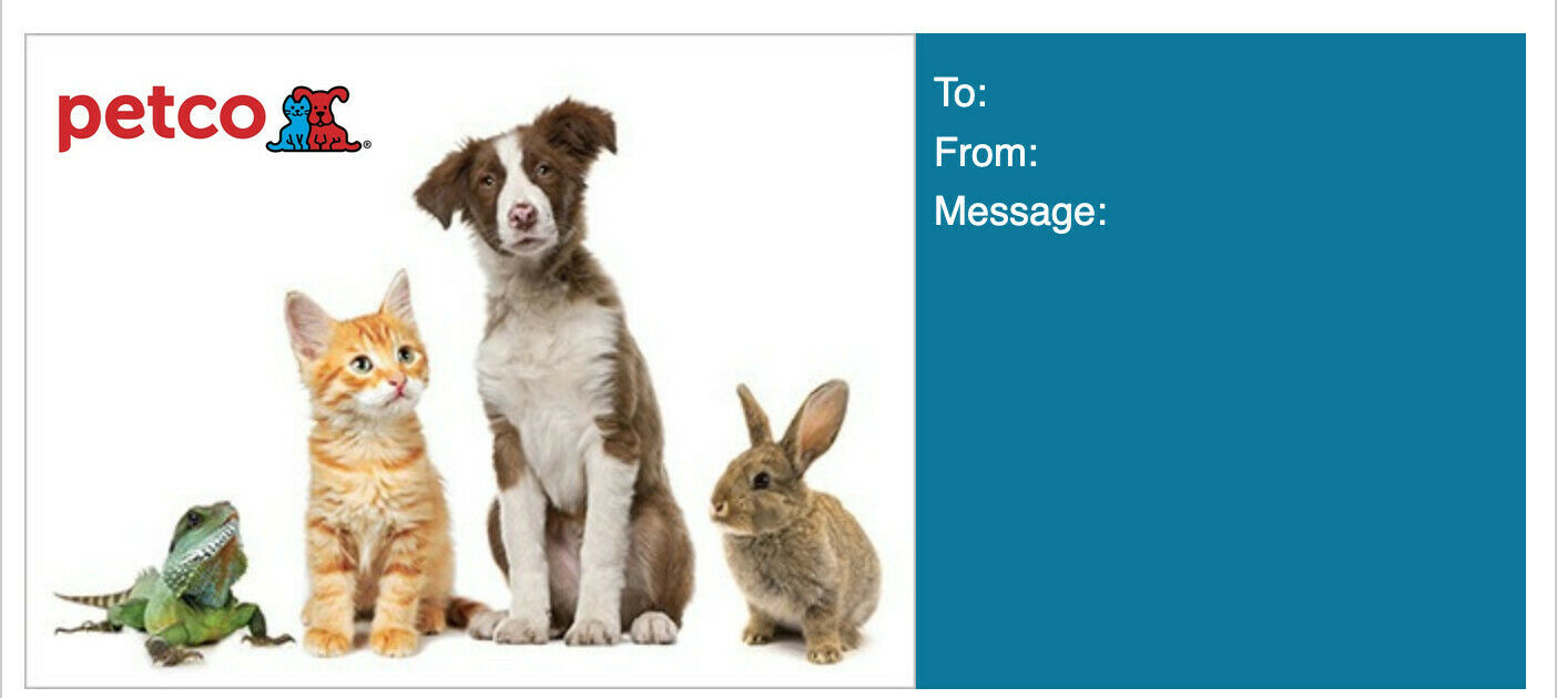 25 Petco Gift Card Egift Immediate Delivery Or Paper Copy Dogs, Cats, Pets - $23.99