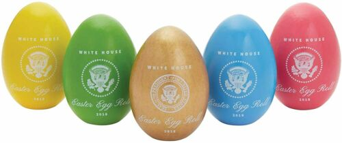 Official 2018 White House Easter Egg Set w/Stamped Signatures of Donald J Trump