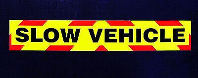 Slow Vehicle Sign Fluorescent Self Adhesive Warning Signage