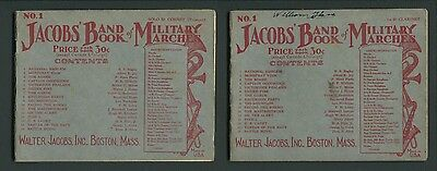 2 Early 20th Century Band Books, JACOBS' BAND BOOK OF MILITARY MARCHES, No. 1