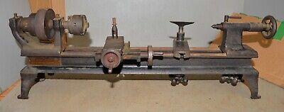 Rare Antique Oliver Bench Top Metal Lathe Jeweler Watchmaker Gunsmith Early Tool