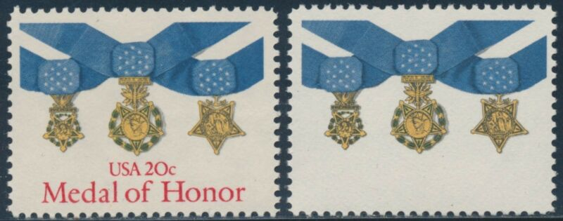 "#2045a ""medal Of Honor"" Red Omitted Major Error Br2336"