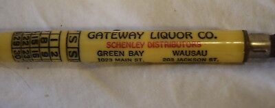 TS-042 WI, Green Bay, Gateway Liquor Co Mechanical Pencil Advertising Vintage