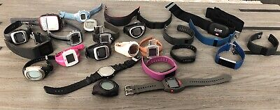 Lot Of 24 Heart Rate Montiors Fitness Trackers Sport Watches Untested No Charger