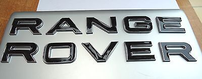 NEW BLACK RANGE ROVER CHROME EDGE 3D LETTERING BONNET SPORT TAILGATE BADGE LOGO