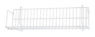 2 White Cd Dvd Cassette Shelves Shelf 24 X 6 X 6 Slatwall Pegboard Wire Grid