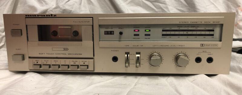 VINTAGE MARANTZ SD221 Stereo Cassette Tape Deck Dolby Player Tested / Japan Made