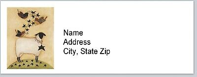 Personalized Address Labels Primitive Sheep Crow Buy 3 Get 1 Free Bx 588
