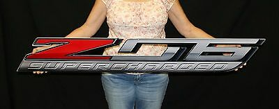 2014 + Corvette C7 Z06 Supercharged Wall Emblem Metal Sign Art 50