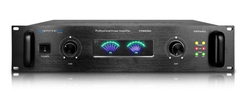 Technical Pro POWER65 6,500 Watt 2 Channel 2U Professional Power Amplifier Amp
