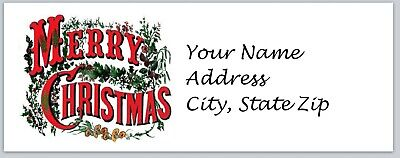 Personalized Address Labels Merry Christmas Buy 3 Get 1 Free Xbo 674
