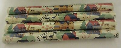 Vintage Rubbermaid Shelf Drawer Liner Paper 4 Rolls NEW ART FARM 9Y03 for sale  Shipping to India