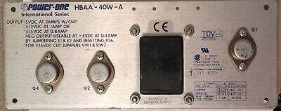Power-one Hbaa-40w-a Power Supply 5 Vdc 3a