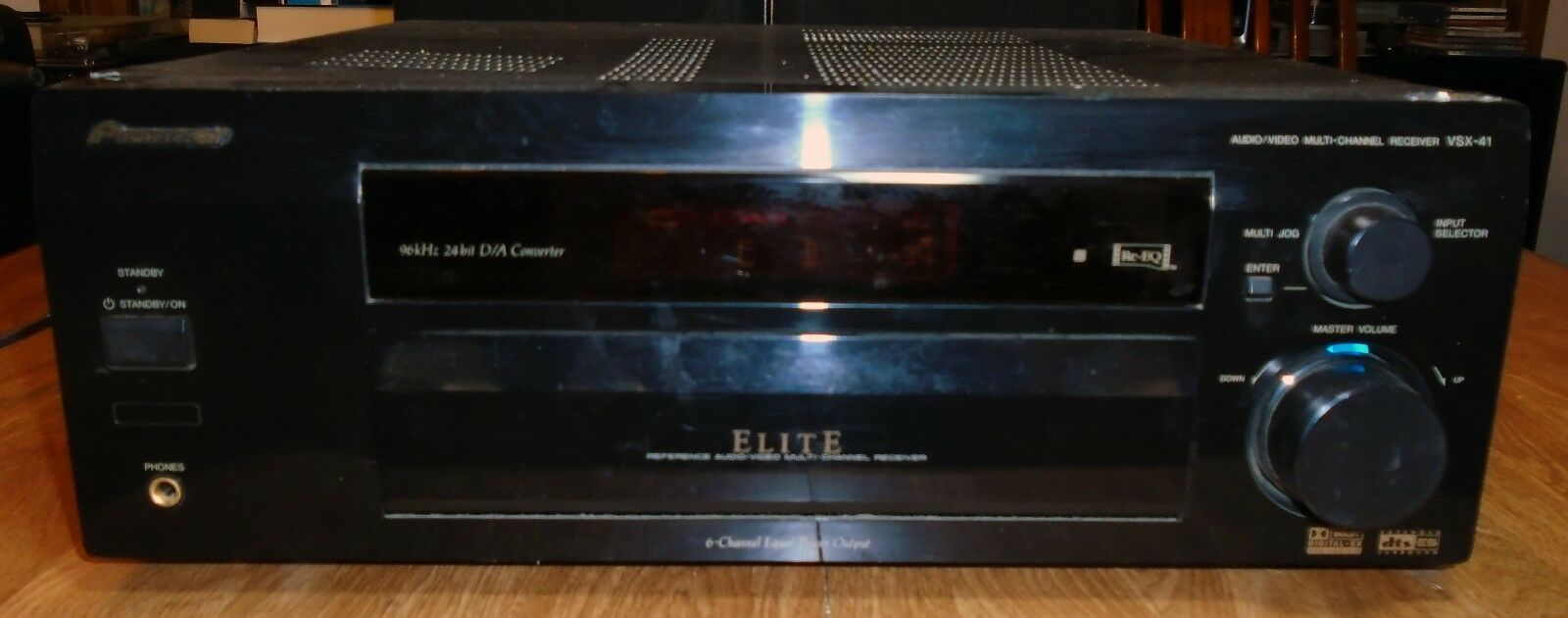 $99.00 - PIONEER ELITE VSX-41 === 5.1 ch / 660 Watts Home Theater Receiver w/Digital