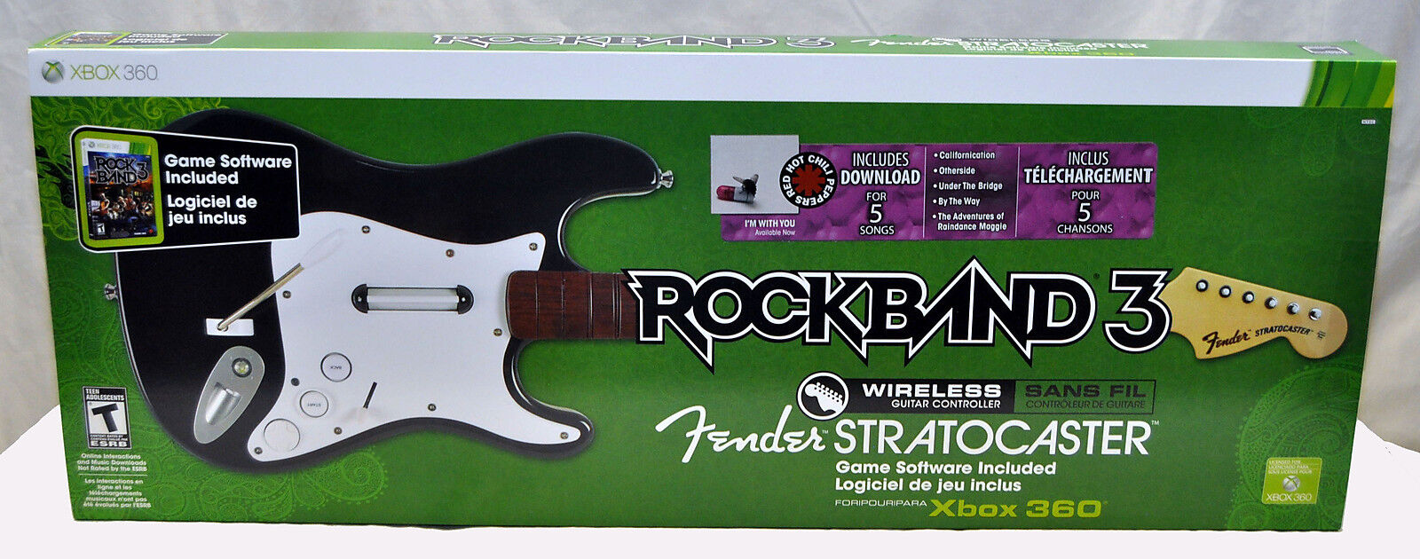 Sealed new xbox 360 rock band 3 game wireless guitar bundle set sealed new xbox 360 rock band 3 game wireless guitar bundle set fender 1 2 4 publicscrutiny Gallery