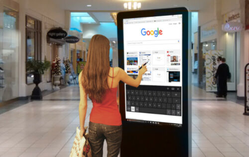 """Touch Screen Computer Kiosk with Built-In Windows Computer and 43"""" HD LG Monitor"""