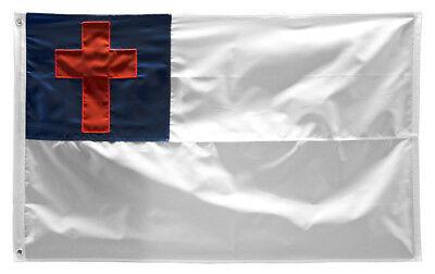 6x10 Embroidered Christian Christ Cross 220D Nylon Flag 6'x10' Grommets clips