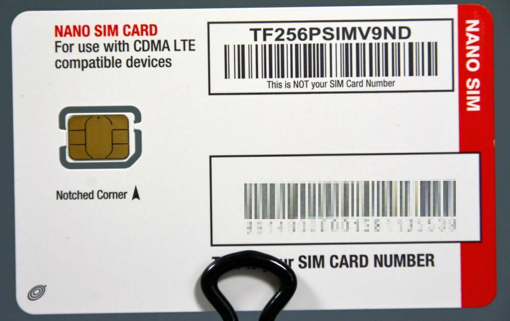 как выглядит Straight Talk Verizon CDMA 4GLTE Nano SIM Card - Android iPhone TF256PSIMV9ND фото