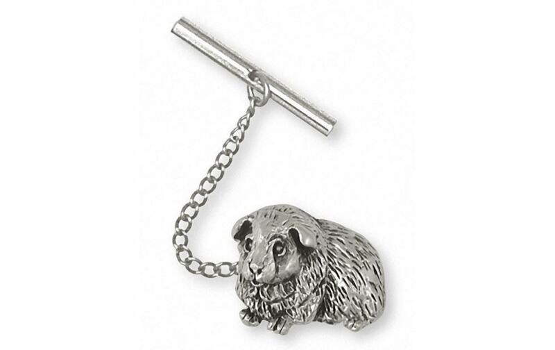 Guinea Pig Tie Tack Jewelry Sterling Silver Handmade Piggie Tie Tack GP8-TT