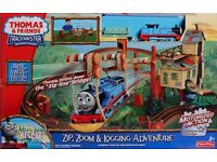 FISHER PRICE - Thomas Trackmaster Zip, Zoom And Logging Adventure Playset