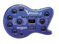 Behringer V-AMP 2 Guitar Processor + case