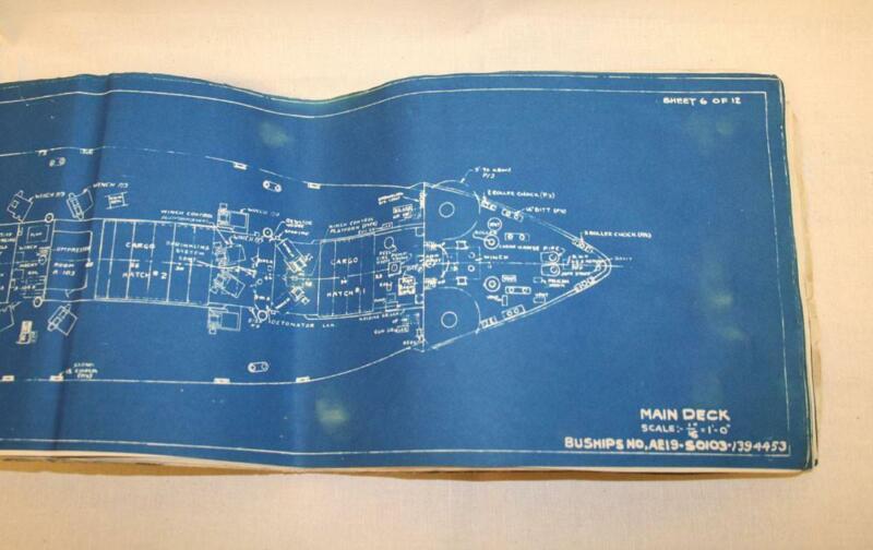 Booklet, Original Blueprint for the Victory Ship USS Diamond Head (Book)