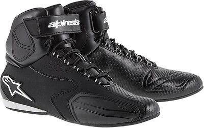 Alpinestars Faster Road Racing Street Motorcycle Shoes  Black  Choose Size