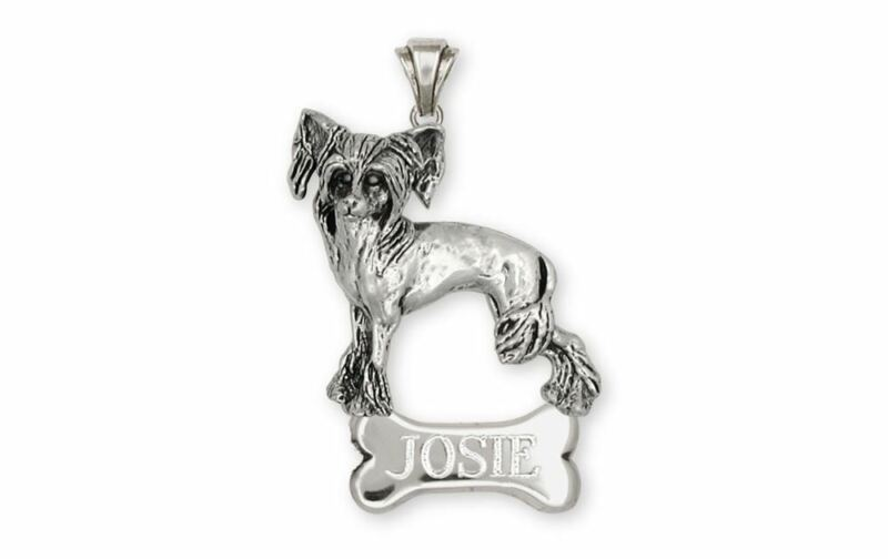 Chinese Crested Pendant Jewelry Sterling Silver Handmade Dog Pendant CC2-NP