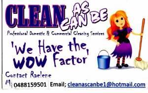 Clean as can  be  cleaning  service Bendigo Bendigo City Preview