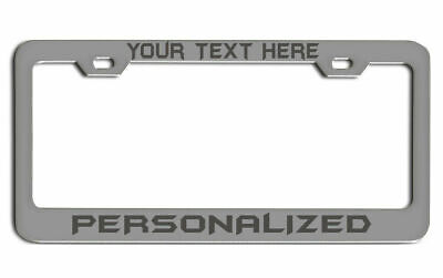 LASER Engraved Gift License Plate Frame Your Customize Text Custom Tag holder (Customize Your Gift)