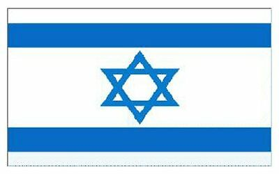 5 x 3 Feet Israel National Large Football Fans Supporters Flag With Eyelets
