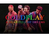 Coldplay Tickets - Level 1 seats / Pitch Standing - Cardiff Stadium - 12th July