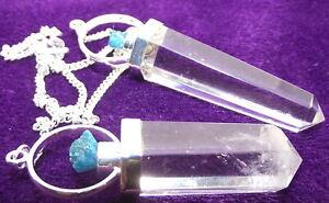 Rare-Cavansite-and-Quartz-Crystal-Gemstone-Pendulum
