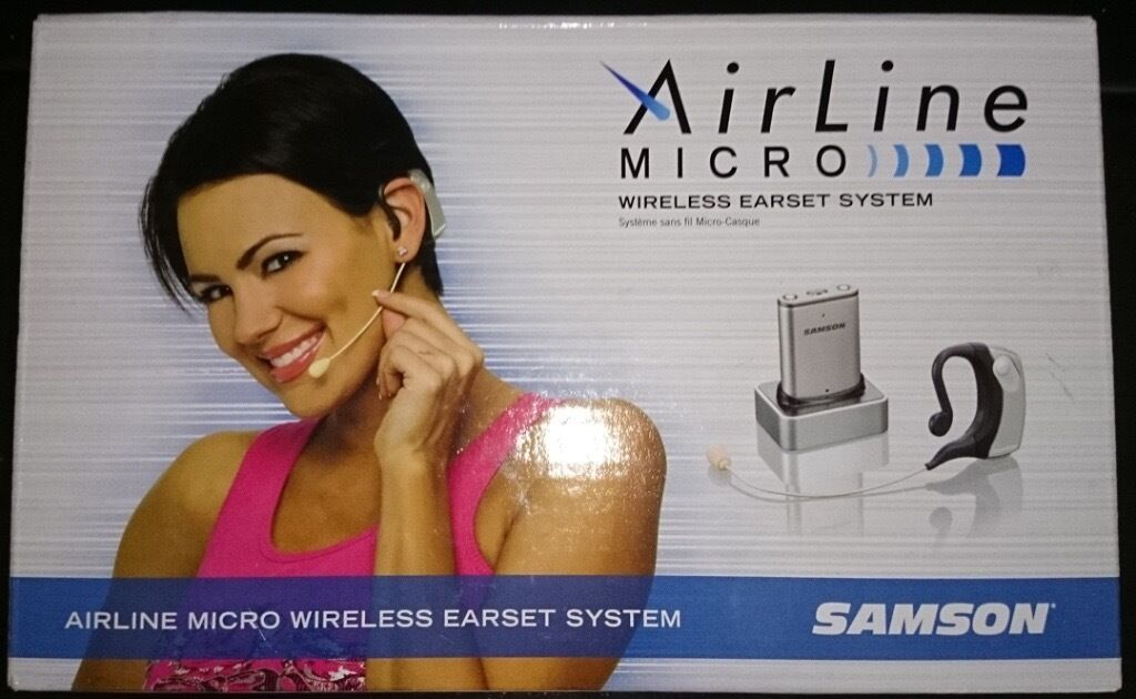 Samson Airline Micro Wireless Earset Microphone System. Great sound, very small.