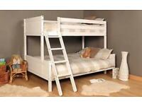 Triple White Pine Heavy Duty Bunk Bed