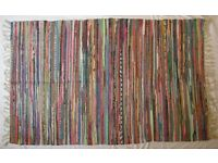Large Multi Colour Cotton Rag Rug