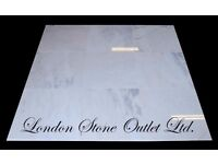 JOB LOT - 18m2 of Bianco Azul Polished Marble 45cm x 45cm x 1cm - £450