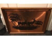 Vintage copper large 3D picture