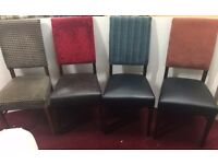 20x Quality Mixed Upholstered Dining Chairs - Slight Seconds