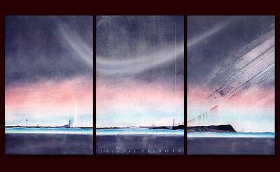 Anthony Salmona Ohne Titel 3 Teile = 90 x 171cm Poster Kunstdruck Bild 90x57cm