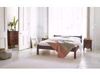 Solid wood kingsize Warren Evans bed frame - Excellent Condition - £220