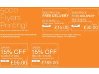 Flyers With Limited Time Discount Offers, same day flyer printing at Bargain Price