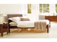 King Size Bed - plus 4 matching dark oak under bed storage boxes.