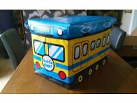 Kids Boys Train Storage Box Toy Box Boys Room Home Decor