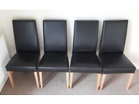 4 brown dining chairs. Excellent condition