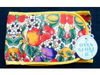Double Oven Gloves Colourful Design Of Fruit/Flowers