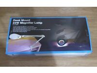 DESK MOUNT 22W MAGNIFIER LAMP - NEW