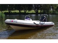 Ribeye 450 Rib Boat with Evinrude Etec 50hp Outboard & Trailer