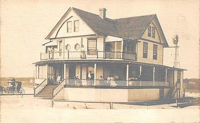 Rppc Beach House Weather Vane Horse Carriage New York Postcard  C  1910